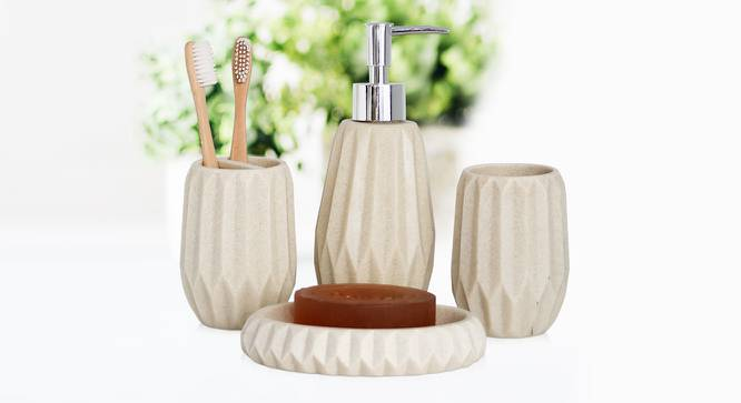 Vidar Bath Accessories Set (Beige) by Urban Ladder - Front View Design 1 - 315870