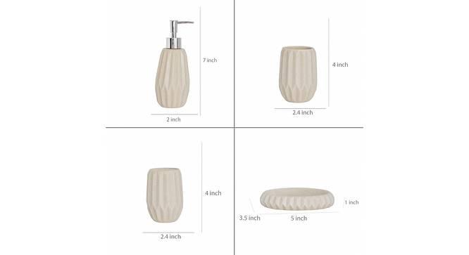 Vidar Bath Accessories Set (Beige) by Urban Ladder - Design 1 Side View - 315871