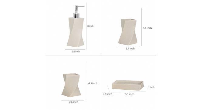 Viggo Bath Accessories Set (Beige) by Urban Ladder - Design 1 Side View - 315874