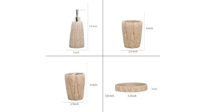 Zalan Bath Accessories Set (Beige) by Urban Ladder - Design 1 Side View - 315892