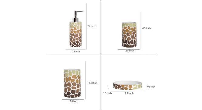 Zoltan Bath Accessories Set by Urban Ladder - Design 1 Side View - 315898