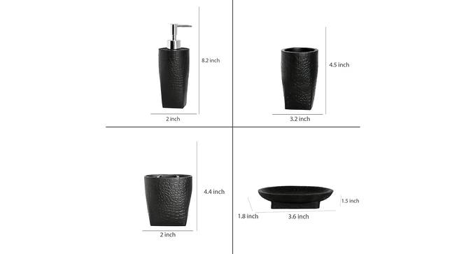 Adeline Bath Accessories Set (Black) by Urban Ladder - Design 1 Side View - 315904