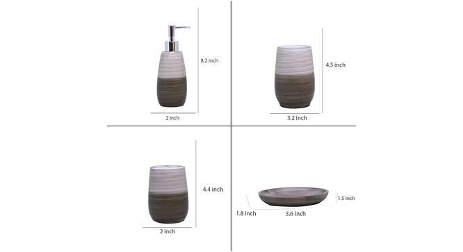 Amelia Bath Accessories Set (Brown) by Urban Ladder - Design 1 Side View - 315913