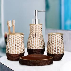 Chelsea Bath Accessories Set (Brown) by Urban Ladder - Design 1 - 315926
