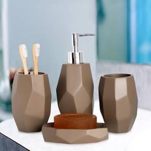 Cicely Bath Accessories Set (Brown) by Urban Ladder - Design 1 - 315929
