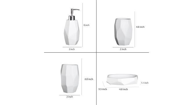 Daphne Bath Accessories Set (White) by Urban Ladder - Design 1 Side View - 315934