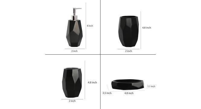 Agnes Bath Accessories Set (Black) by Urban Ladder - Design 1 Side View - 315937