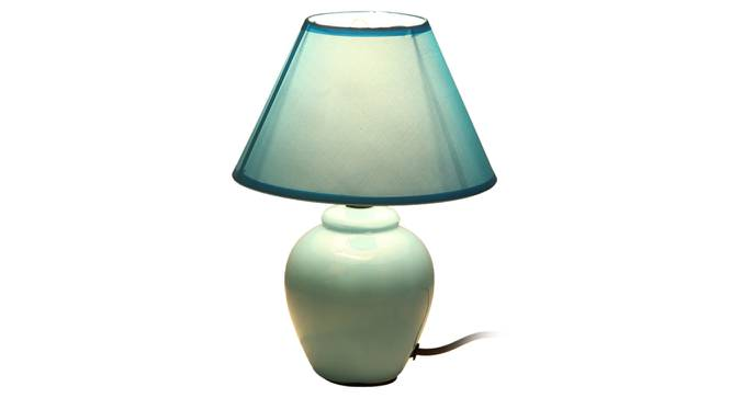 Miray Table Lamp (Blue Finish) by Urban Ladder - Front View Design 1 - 315947