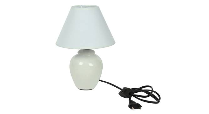 Miray Table Lamp (White Finish) by Urban Ladder - Design 1 Side View - 315954