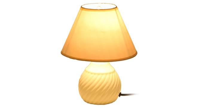 Defne Table Lamp (White Finish) by Urban Ladder - Front View Design 1 - 315967