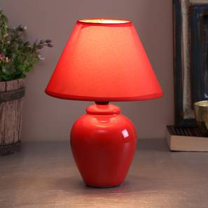 Nisanur table lamp red lp