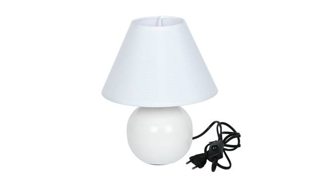 Rabia Table Lamp (White Finish) by Urban Ladder - Design 1 Side View - 315995