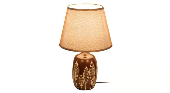 Beren Table Lamp (Brown Finish) by Urban Ladder - Front View Design 1 - 315997