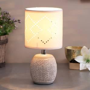Melek Table Lamp (White Finish) by Urban Ladder - Design 1 - 316011