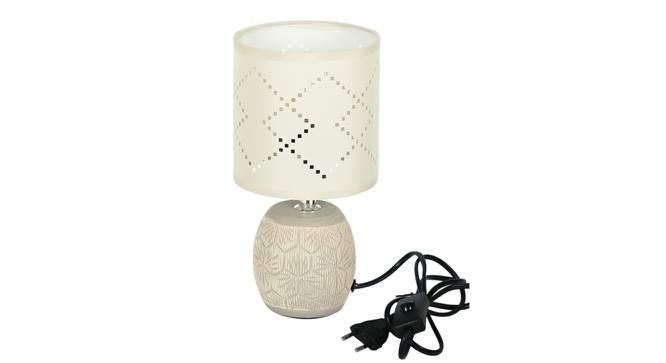 Melek Table Lamp (White Finish) by Urban Ladder - Design 1 Side View - 316013