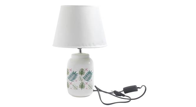 Esila Table Lamp (White Finish) by Urban Ladder - Design 1 Side View - 316043