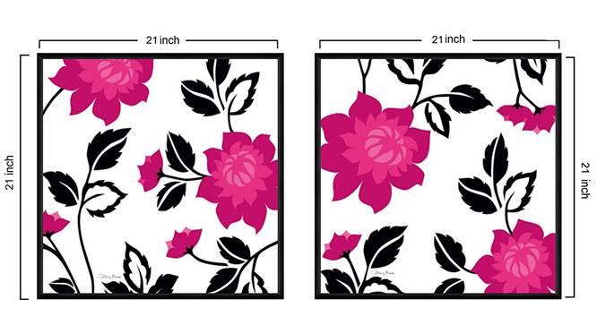 Samaira Wall Art by Urban Ladder - Design 1 Side View - 316094