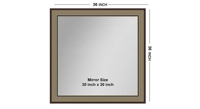 Lopa Mirror (Brown) by Urban Ladder - Front View Design 1 - 316223