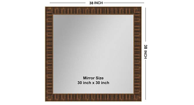 Mudra Mirror (Brown) by Urban Ladder - Front View Design 1 - 316229