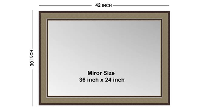 Irita Mirror (Brown) by Urban Ladder - Front View Design 1 - 316250