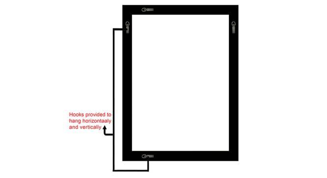 Blake Bathroom Mirror (White) by Urban Ladder - Front View Design 1 - 316259