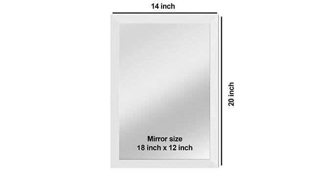 Blake Bathroom Mirror (White) by Urban Ladder - Design 1 Side View - 316260