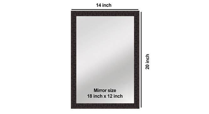 Braxton Bathroom Mirror (Brown) by Urban Ladder - Design 1 Side View - 316263