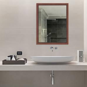 Bretta Bathroom Mirror (Brown) by Urban Ladder - Design 1 - 316264