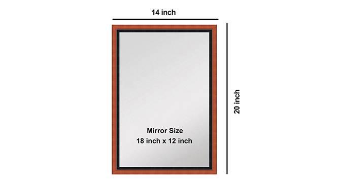 Bronwyn Bathroom Mirror (Brown) by Urban Ladder - Design 1 Side View - 316269