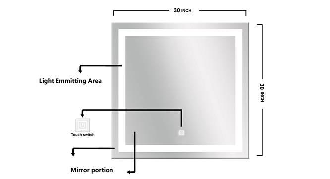 Catalina Bathroom Mirror (Silver) by Urban Ladder - Design 1 Side View - 316284