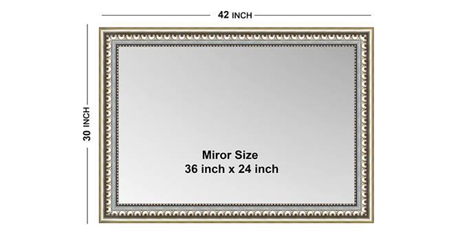 Chiara Bathroom Mirror (Silver) by Urban Ladder - Design 1 Side View - 316287
