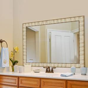 Coco Bathroom Mirror (Cream) by Urban Ladder - Design 1 - 316288