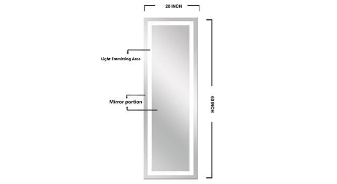 Cordell Bathroom Mirror (Silver) by Urban Ladder - Front View Design 1 - 316298