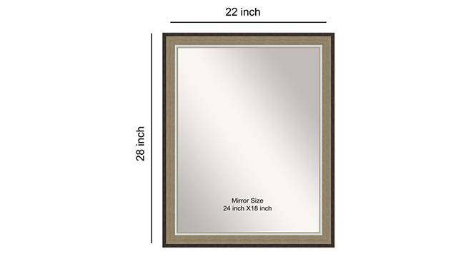 Pahal Mirror (Cream) by Urban Ladder - Front View Design 1 - 316319