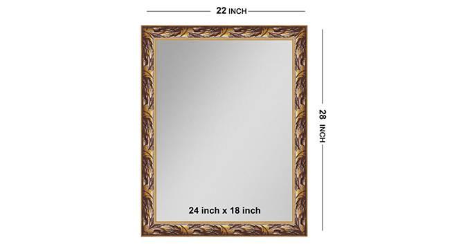 Saachi Mirror (Gold) by Urban Ladder - Front View Design 1 - 316328