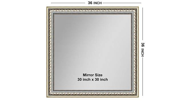 Kanchan Mirror (Silver) by Urban Ladder - Front View Design 1 - 316343