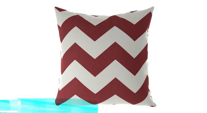 """Chevron Cushion Cover - Set Of 2 (Brick Red, 41 x 41 cm  (16"""" X 16"""") Cushion Size) by Urban Ladder - Front View Design 1 - 316366"""