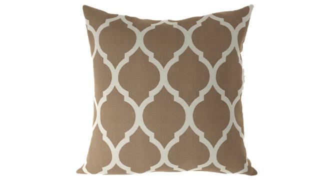 "Taj Cushion Cover - Set Of 2 (Beige, 41 x 41 cm  (16"" X 16"") Cushion Size) by Urban Ladder - Front View Design 1 - 316384"