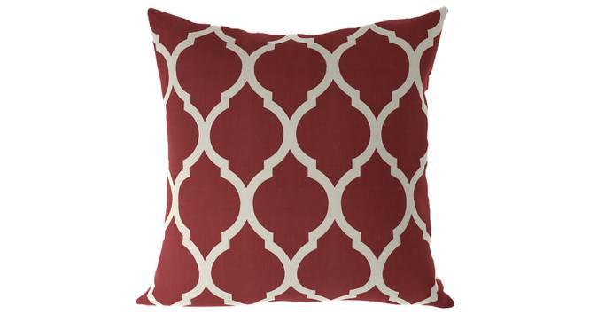 "Taj Cushion Cover - Set Of 2 (Brick Red, 41 x 41 cm  (16"" X 16"") Cushion Size) by Urban Ladder - Front View Design 1 - 316387"
