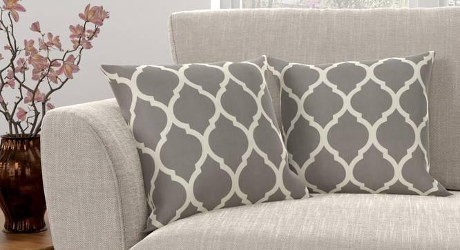 """Taj Cushion Cover - Set Of 2 (Grey, 41 x 41 cm  (16"""" X 16"""") Cushion Size) by Urban Ladder - Design 1 Full View - 316389"""