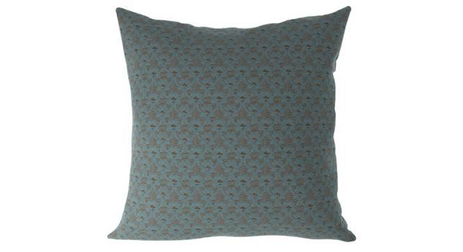 "Gardenia Cushion Cover - Set Of 2 (Blue, 41 x 41 cm  (16"" X 16"") Cushion Size) by Urban Ladder - Front View Design 1 - 316410"