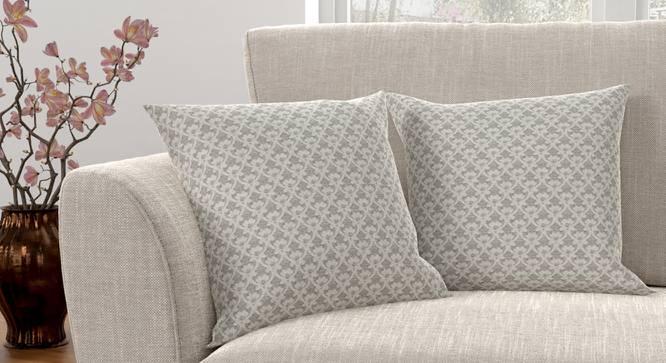 "Gardenia Cushion Cover - Set Of 2 (Grey, 41 x 41 cm  (16"" X 16"") Cushion Size) by Urban Ladder - Design 1 Full View - 316418"