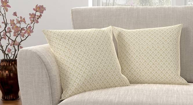 "Gardenia Cushion Cover - Set Of 2 (Yellow, 41 x 41 cm  (16"" X 16"") Cushion Size) by Urban Ladder - Design 1 Full View - 316421"