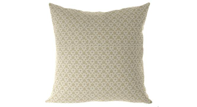 """Gardenia Cushion Cover - Set Of 2 (Yellow, 41 x 41 cm  (16"""" X 16"""") Cushion Size) by Urban Ladder - Front View Design 1 - 316422"""