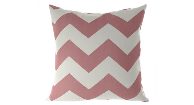 """Chevron Cushion Cover - Set Of 2 (Pink, 46 x 46 cm  (18"""" X 18"""") Cushion Size) by Urban Ladder - Front View Design 1 - 316425"""