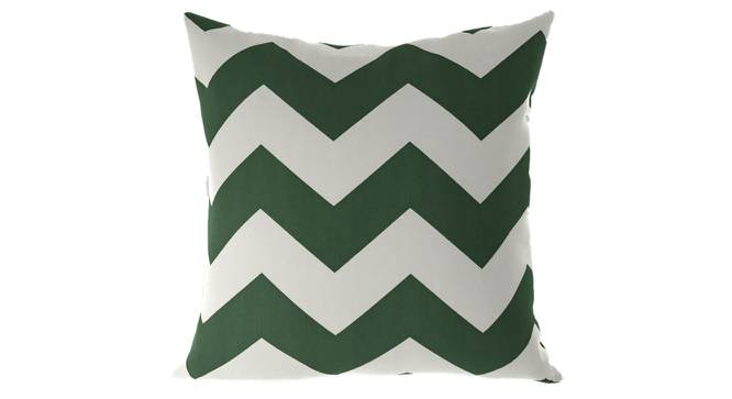 """Chevron Cushion Cover - Set Of 2 (Green, 46 x 46 cm  (18"""" X 18"""") Cushion Size) by Urban Ladder - Front View Design 1 - 316431"""