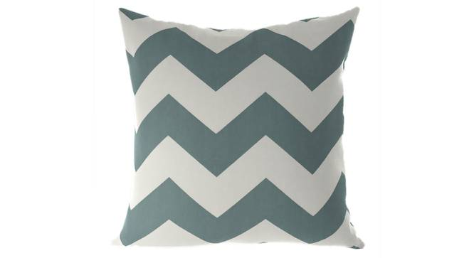 """Chevron Cushion Cover - Set Of 2 (Lime Green, 46 x 46 cm  (18"""" X 18"""") Cushion Size) by Urban Ladder - Front View Design 1 - 316440"""