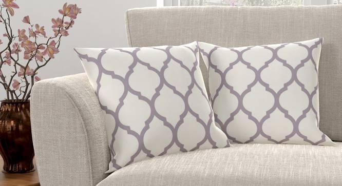 "Taj Cushion Cover - Set Of 2 (Purple, 46 x 46 cm  (18"" X 18"") Cushion Size) by Urban Ladder - Design 1 Full View - 316457"
