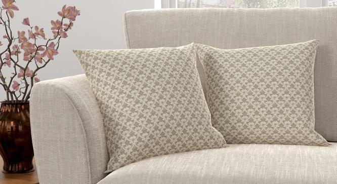 "Gardenia Cushion Cover - Set Of 2 (Brown, 46 x 46 cm  (18"" X 18"") Cushion Size) by Urban Ladder - Design 1 Full View - 316472"