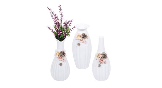 Valentin Vase - Set Of 3 (White) by Urban Ladder - Design 1 Full View - 316832